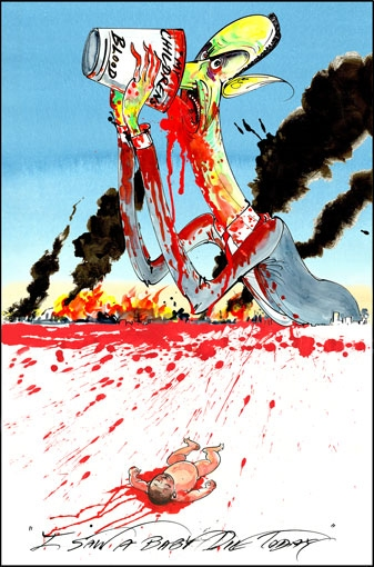 Gerald Scarfe - Assad depiction
